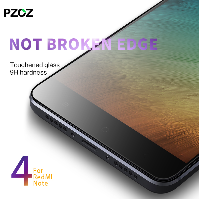 Pzoz xiaomi redmi note 4 glass full cover prime screen protector xiaomi redmi note 4 pro tempered xiomi redmi note 4 glass 64gb