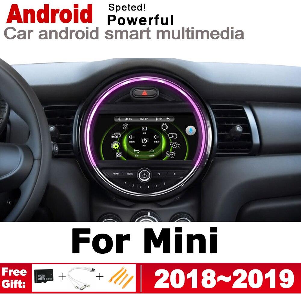 2 Din Auto Lettore Multimediale Android Radio Auto Per Mini One Cooper S Hatch 2018 ~ 2019 DVD GPS Per Auto radio Stereo di GPS di Navigazione