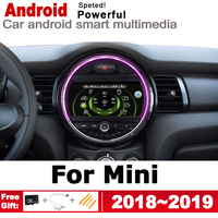 2 Din Car Multimedia Player Android Auto Radio For Mini One Cooper S Hatch 2018~2019 DVD GPS Car Radio Stereo GPS Navigation