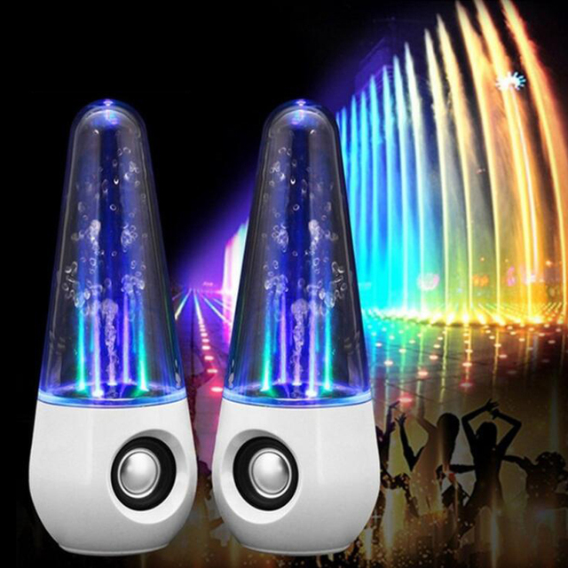 LED Light Water Dancing Portable Speaker Altavoz Parlantes HIFI 3D Surround Subwoofer Stereo Computers Music Active Speakers