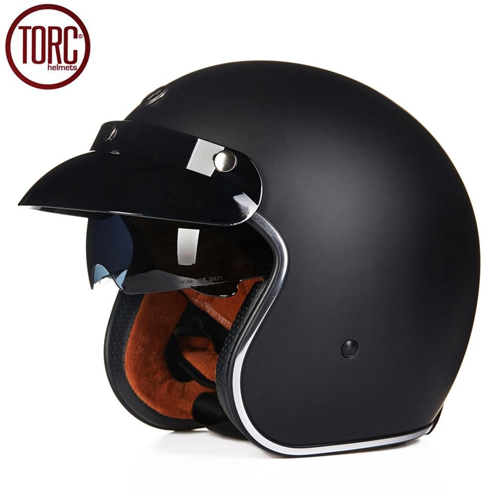 TORC Motorcycle Helmet Harley Open Face Vintage Cruiser Helmet T57A Moto Casque Casco motocicleta Capacete DOT Helmets