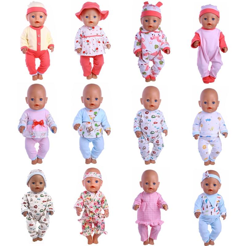 все цены на 12 Styles Choose 1=Comfortable Pajamas Doll Clothes Wear fit 43cm Baby Born zapfs Doll,Children best Birthday Gift онлайн