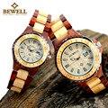 Mujer madera bewell relojes de pulsera para las señoras de lujo top brand 2016 pareja relojes de pulsera hombres reloj de cuarzo del amante caja 100b $ number pieza