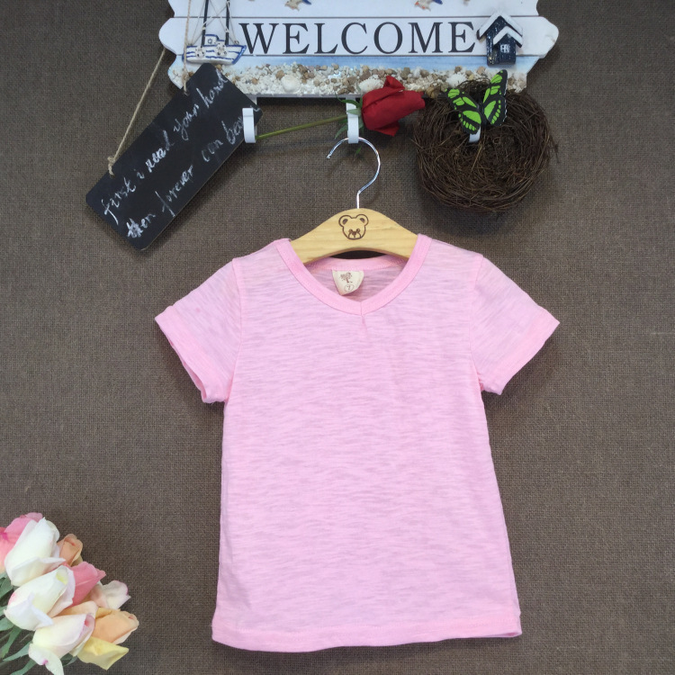 35606d4f7 Babys Boys Girls T Shirt Popular Color Cotton Short-sleeve T-shirts ...