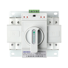 2P 63A 220V CB type Dual Power Automatic transfer switch ATS 4p 63a 220v 380v mcb type white color dual power automatic transfer switch ats