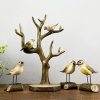 1 pc Retro Birds On Tree Jewelery Rack Creative Ornaments Crafts Home decors Wedding Gifts
