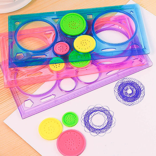 Variety Spirograph Geometric Ruler Learning Drawing Tool Stationery For Student Drawing Set Creative Gift
