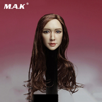 Hot Sale DH003 B1/6 Scale Asia Beautiful hea Carving Chinese Famous Star Angelababy Brown Hair Head Sculpt Models Toys
