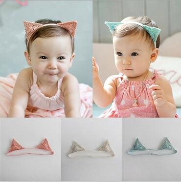 2015 cute baby hollow out cat ear headbands girls/Infant hairbands kids head band children hair accessories