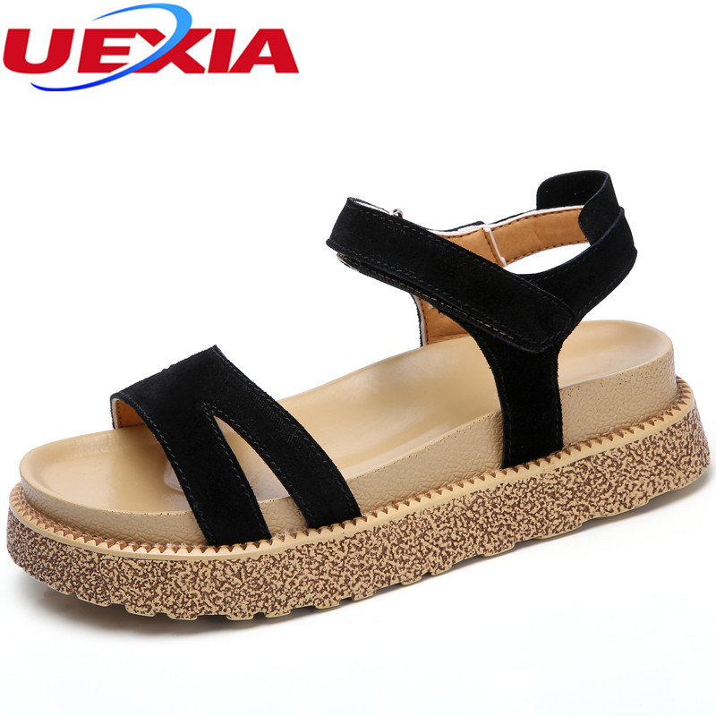 UEXIA Open Toe Lace up Heels Sexy Woman Sandals peep-toe sandals Thick with Women Shoes Roman High help sandalias mujer Platform