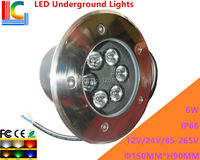 6 W LED Ondergrondse 12 V 110 V 220 V tuinpad verlichting lamp landschap lamp IP66 Waterdichte Outdoor Spotlight 2 Stks/partij