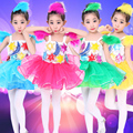 10pcs/lot Free Shipping Ballet Dance Dress for Girls Children Flower Girl Princess Dresses Stage Ballroom Costume Clothes