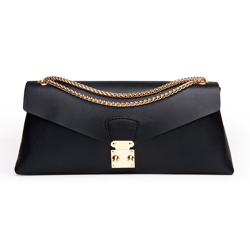 ФОТО Cow Leather Woman Shoulder Bag 2016 New High Quality Woman Handbags Fashion Black Woman Bag