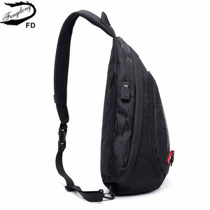 Image 4 - Fengdong waterproof fabric male crossbody bag small black camouflage sling chest bag one shoulder bags for women bagpack daypack