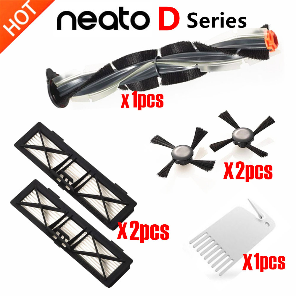 6pcs/lot For Neato Botvac D Series Brush Side Brushes Filter Kit