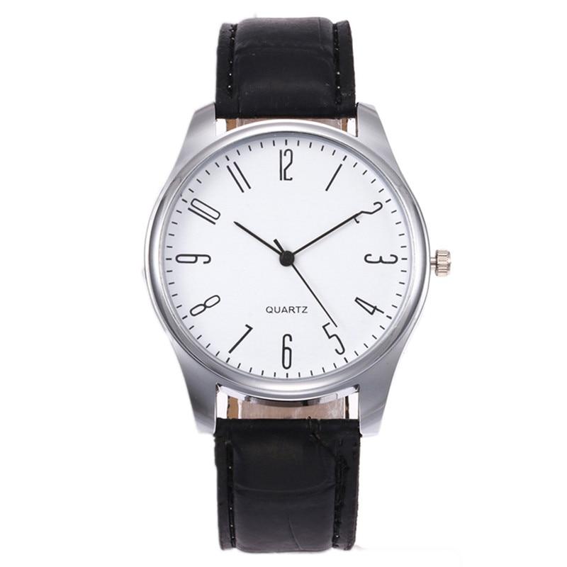 Модные Для мужчин часы Аналоговые Кварцевые Спорт Для мужчин просто Бизнес модные кожаные кварцевые наручные часы часовой моды Для мужчин ... ...