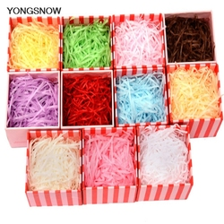 20g Crinkle Paper Filler DIY Paper Raffia Shredded Confetti Gift Box Filling Material for Birthday Wedding Decoration 7Z