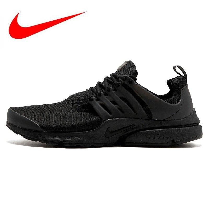 Hot Sales Original Nike Air Presto Blackout Black Knight Retro Men s Running  Shoes Sport Sneakers 305919 a5d745a009719