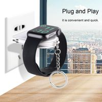 New Ideal 2 in 1 Watch Charger USB Wireless Charging Adapter Holder Stand Data Cable White Color Simper Design