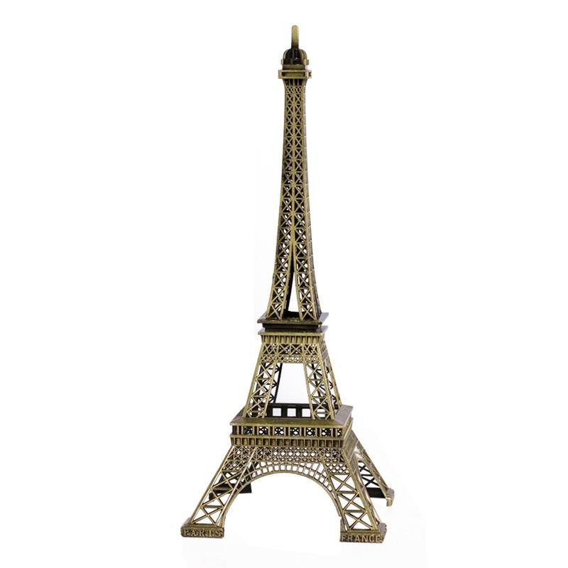 Antique Bronze Eiffel Tower Model Home Decoration Vintage Decor Metal Craft Cake Topper Wedding Decoration 62cm