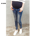 Maternity Jeans Spring Autumn Denim Hold Up Belly Pants for Pregnant Women Zipper Scratched Ripped Pregnant Clothing Pencil Pant