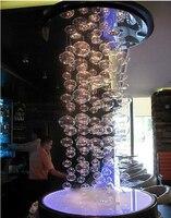Мурано из вогнутой точки пузырь стекло подвесной светильник плоский шар подвеска светодио дный LED dropLamp Современная Гостиная лампы для мото