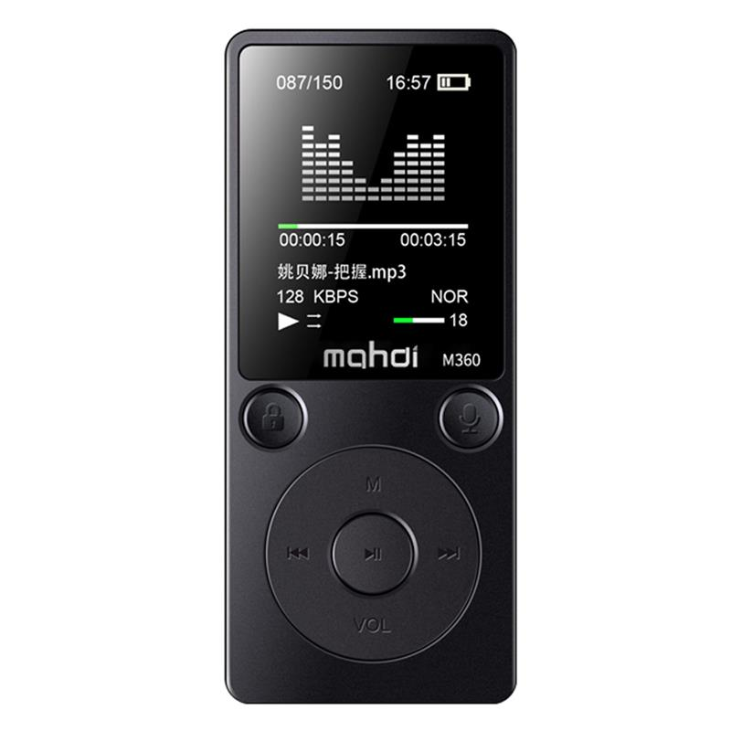Green Mini MP3 Player Clip USB FM Radio LCD Screen Support for 32GB BRCE
