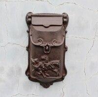 Najlepiej sprzedających Europejski żeliwa skrzynki pocztowej Do Montażu Na Ścianie Metalu Pole Mody Vintage, Gazeta Post Litery Poczty maibox pudełka na zewnątrz