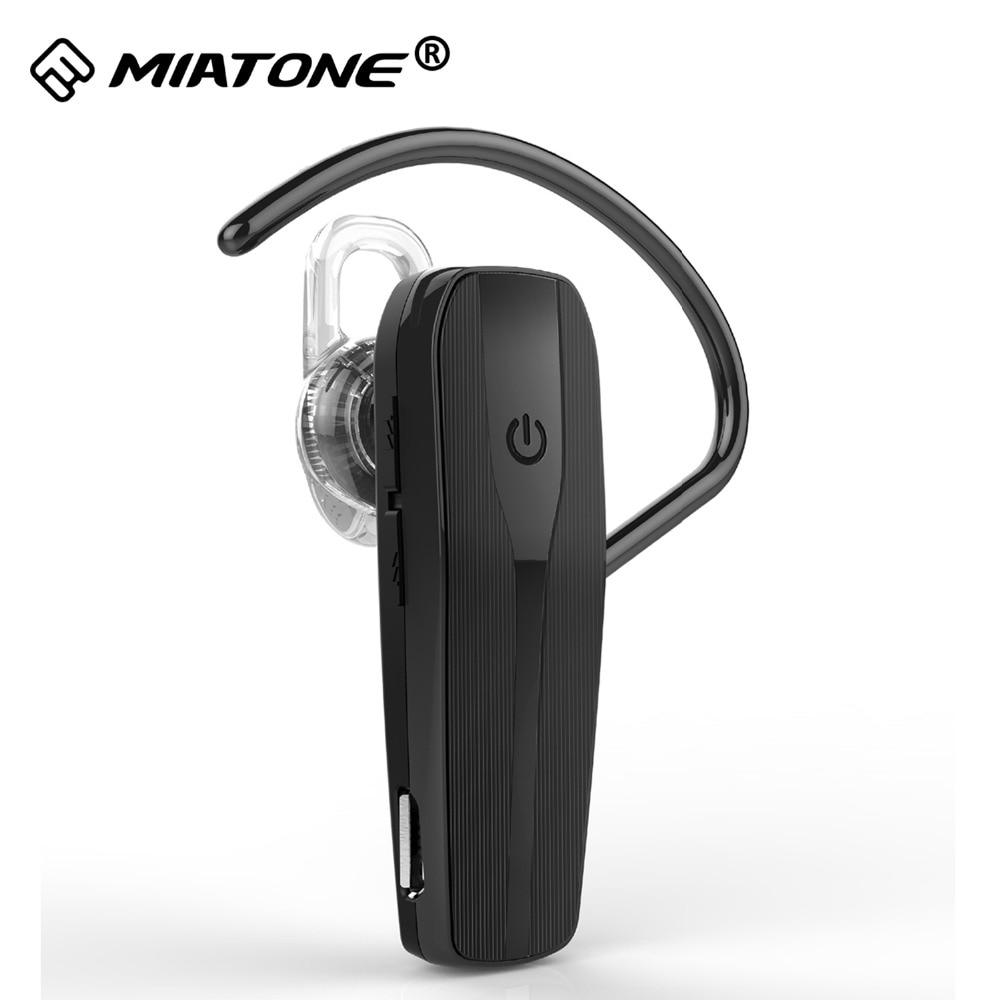 Draadloze Bluetooth Headset 4.0 met ruisonderdrukkende microfoon Handsfree hoofdtelefoon Oortelefoon Oordopjes voor Huawei iPhone Smart Phone