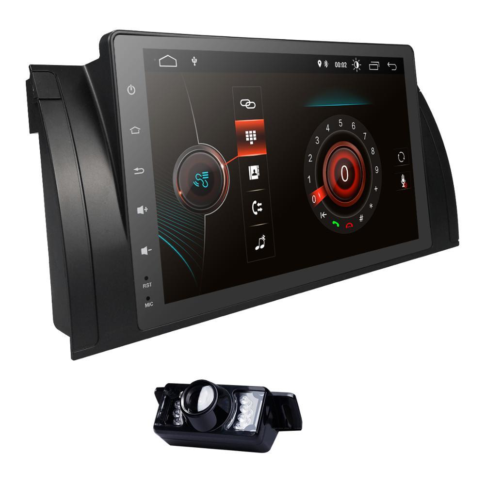 Quad core Android 9.0 voiture GPS stéréo pour BMW E39 E53 X5 avec EO Wifi Bluetooth contrôle de roue en acier DVR TPMS OBD2 caméra gratuite IGO
