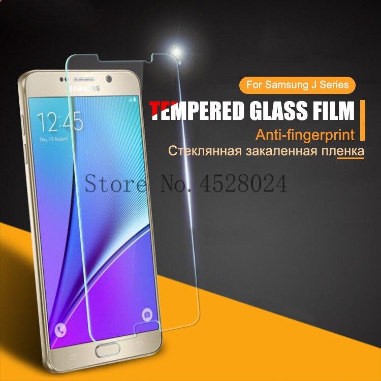 """9 שעתי מזג זכוכית עבור Samsung Galaxy J3 J5 J7 A3 A5 A7 2016 2017 2015 J330 J530 J730 0.26 מ""""מ מסך מגן סרט מגן"""