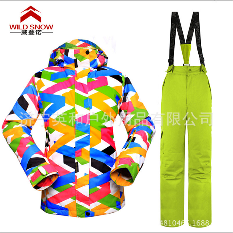 Prix pour Haute Qualité New hiver version Coréenne ensembles de ski en plein air professionnel femmes coupe-vent respirant chaud kiing Vêtements