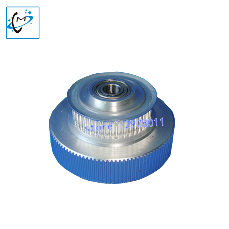 large format  printer spare parts Allwin Konica  512 printhead belt motor pulley / Allwin 512 tower gear wholesale 14pins data cable 6 meters wide format printer cable for allwin human inkjet printer konica km512 42pl spare parts