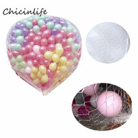Chicinlife 1pcs Balloon net 200pcs 10inch Latex Balloons Size Balloon Release Drop Net Wedding Birthday Party Decoration