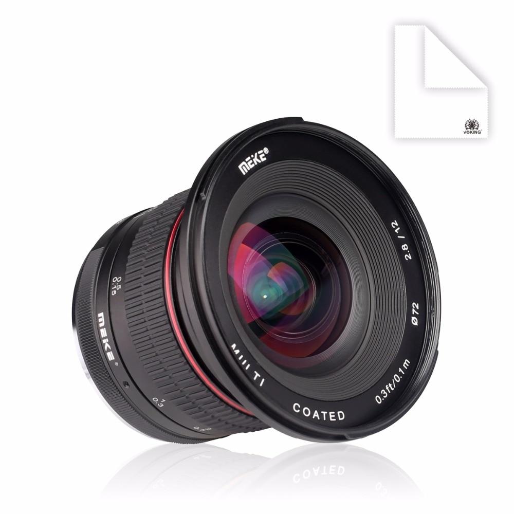 Meike 12mm f/2.8 Ultra Grand Angle Objectif Fixe avec Amovible Hood pour Sony Alpha et Nex Mirrorless caméra avec APS-C