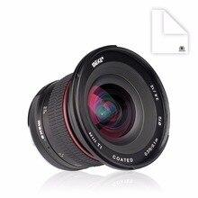 Майке 12 мм f/2.8 Ультра Широкий Угол Фиксированный Объектив с Съемный Капюшон для Sony Alpha и Nex Беззеркальных Камеры с APS-C
