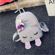 Корейский стиль осень новая коллекция кошка вышивка рюкзак милый мультфильм сумки на ремне, опрятный стиль моды студент мешок школы