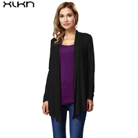 XIKN Women Long Sleeve Hybrid Cotton Blouses Spring Autumn Clothing Coats Casual Blouse Ladies Shirts Female