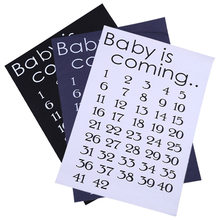 Baby Is Coming Maternity T-Shirt Tops Patches Mama Clothes Women Calendar Countdown Pregnancy Patches Mark Off Baby Announcment(China)