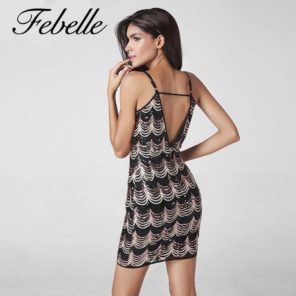1f34ad67cc5d0 Febelle England Summer Spaghetti Strap Mini Dress Sexy V Neck ...