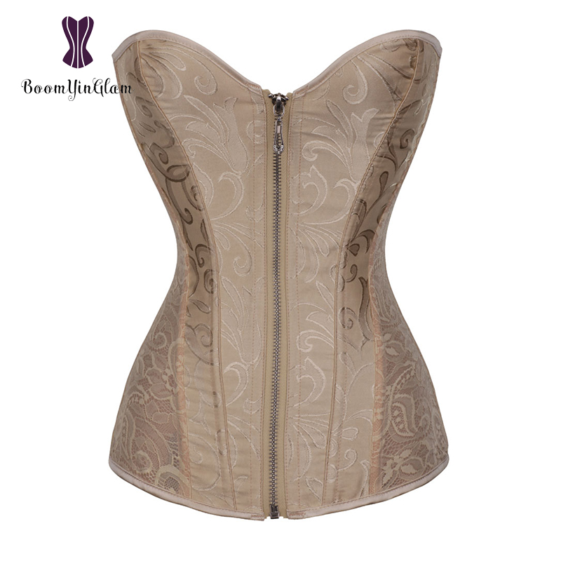 Lace Slimming Waist Shaper Zip Up Corset