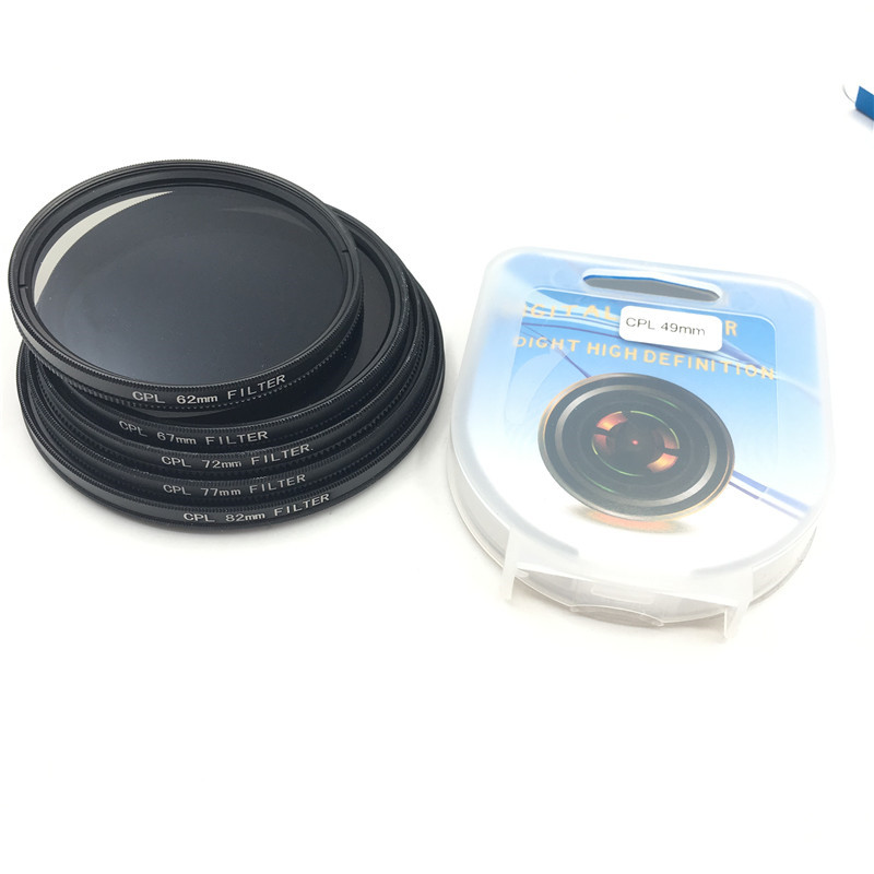 CPL Circular Polarizer Camera filter for Canon Nikon DSLR Camera lens 52mm/55/58/62/67/72/77/82mm ...