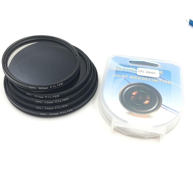 CPL Circular Polarizer Camera filter for Canon Nikon DSLR Camera lens 52mm/55/58/62/67/72/77/82mm ...