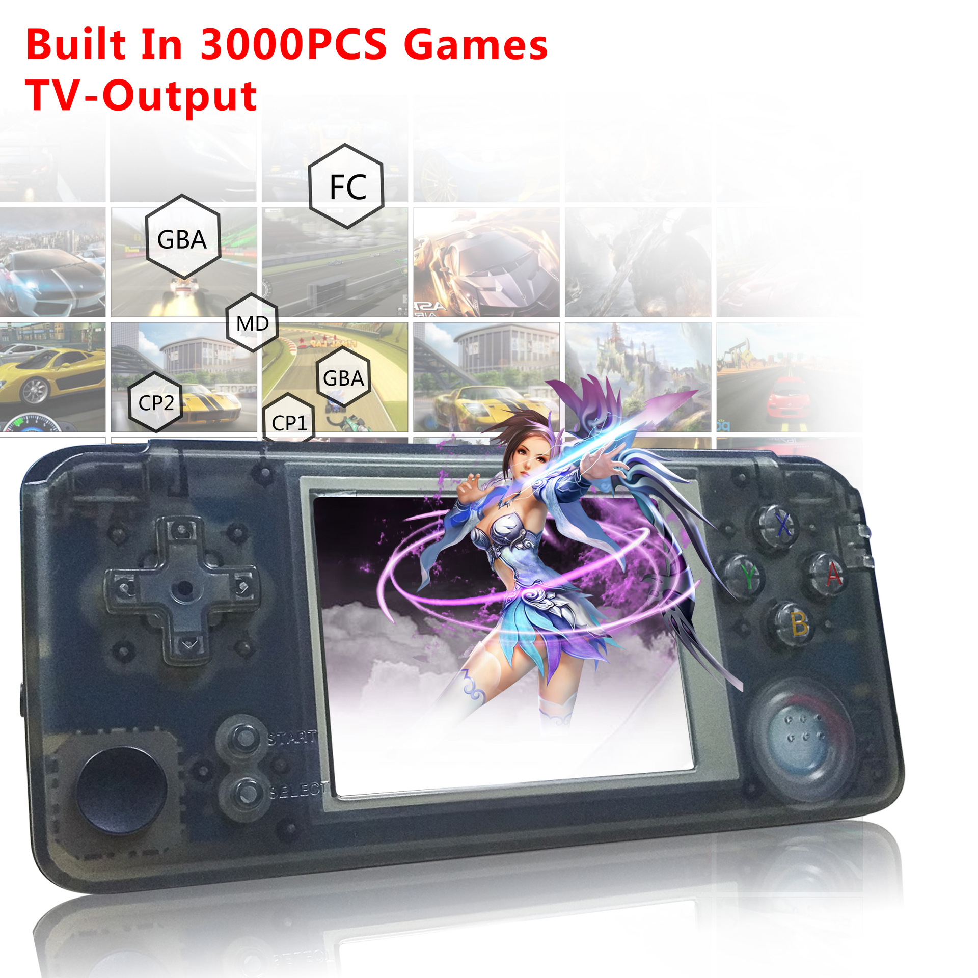 3000 Games Retro Handheld Game Console 60Hz Portable Consoles 3