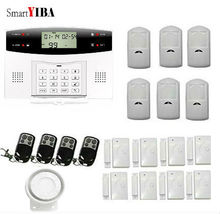 SmartYIBA English Russian Spanish French Italian Czech Voice Wireless GSM Alarm System Home Wireless Security Alarm