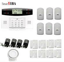 SmartYIBA English Russian Spanish French Italian Czech Voice Wireless GSM Alarm System Home Wireless Security Alarm System Kit