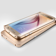 Slim Luxury Matte Aluminum Bumper Back Case for Samsung Galaxy S6 Edge Plus S6edge Phone Metal Brand Cover Coque Capinha Gold