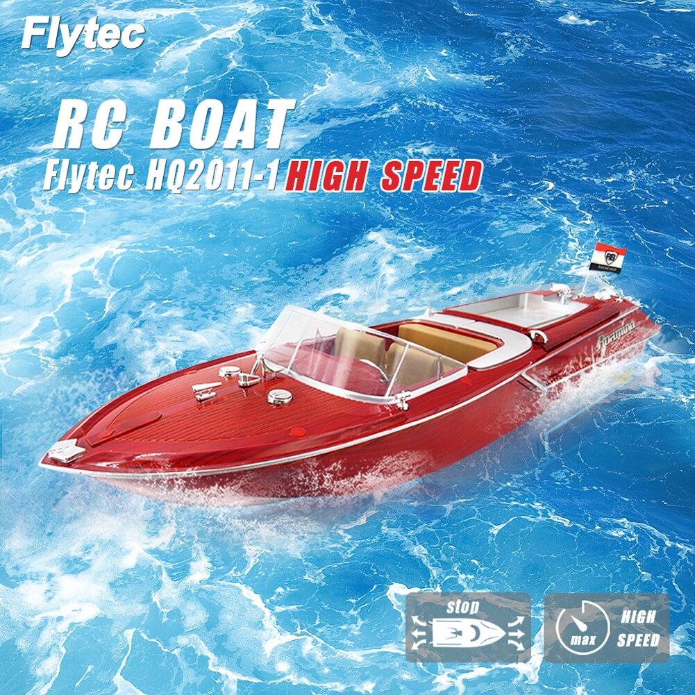 Flytec HQ2011-1 grand 4 canaux Simulation à distance vitesse bateau dirigeable modèle pour enfants jouets étanche électrique RC bateau 15-20 km/h
