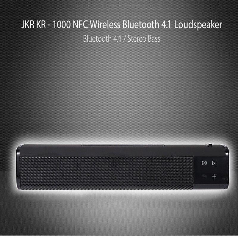 все цены на JKR KR-1000 Wireless Bluetooth Speaker Super Bass Stereo Loudspeaker Volume Control for iPhone / Samsung Upgrade of SL - 1000S онлайн