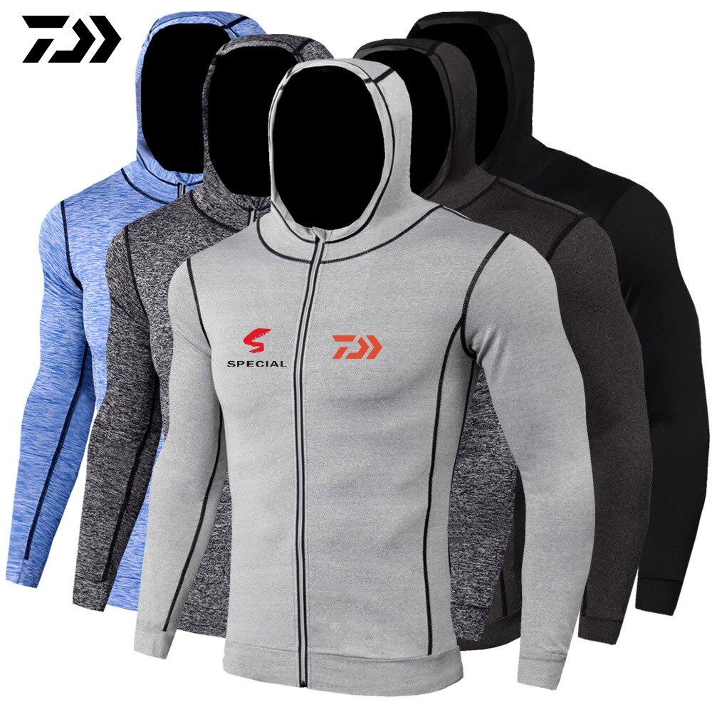 2020 Daiwa Movimento Roupas Ao Ar Livre Jaquetas Com Capuz Blusão de Secagem Rápida Roupas de Proteção Solar Jaqueta Caminhadas Pesca